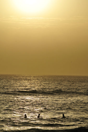 Sunset Surfers at Hashpoint in Taghazout, Morocco