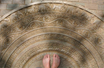 Feet in Polonnaruwa - Sri Lanka