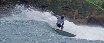 KIng Kong from Big Daddys Surf Camp surfing in Red Island
