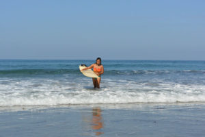 Lea Apolonio San Juan La Union Phillipines Longboard Surf Layback Travel