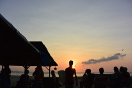 The surfers are enjoying the sunset, Lhoknga, Aceh, Sumatra