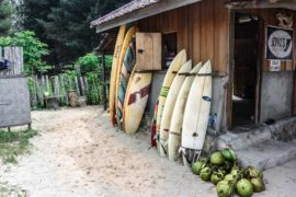 Surfboard for Rent at Joyus Cafe, Lhoknga, Sumatra