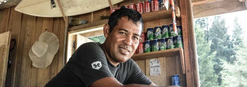 Saddam - the first surfer in Aceh, Sumatra