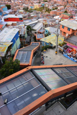 Escalators in a Favela of Medellin, Colombia - Layback Travel