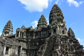 View of Main Building Angkor Wat Cambodia Layback Travel