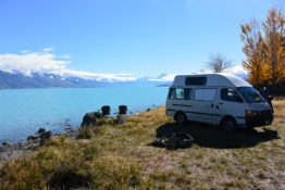 Campervan at Lake Pukaki, New Zealand - Layback Travel