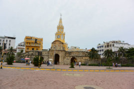 Clock tower in Cartagena, Colombia - Layback Travel