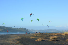 Kite Surfers in Raglan, New Zealand - Layback Travel