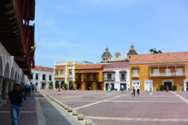 Plaza in Cartagena, Colombia - Layback Travel