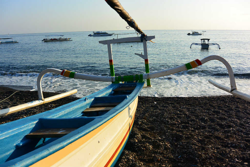 Boat in Amed, Bali - Layback Travel
