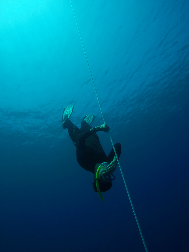 Freediving head first - Layback Travel