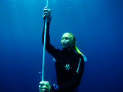 Close up - Freediver - Amed, Bali - Layback Travel