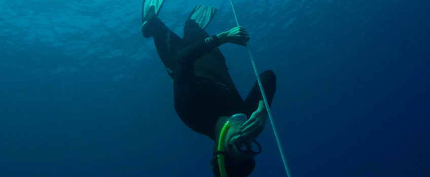 Freediving in Amed, Bali - Layback Travel