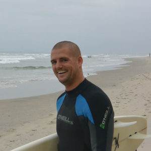 In California surfing is part of Andi's lifestyle