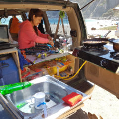 Built our Camper Van Suzi Santiago - Layback Travel